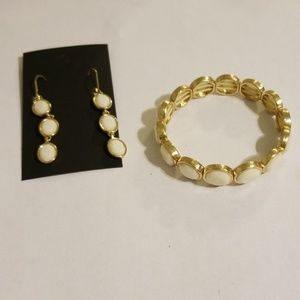 Earrings and bracelet